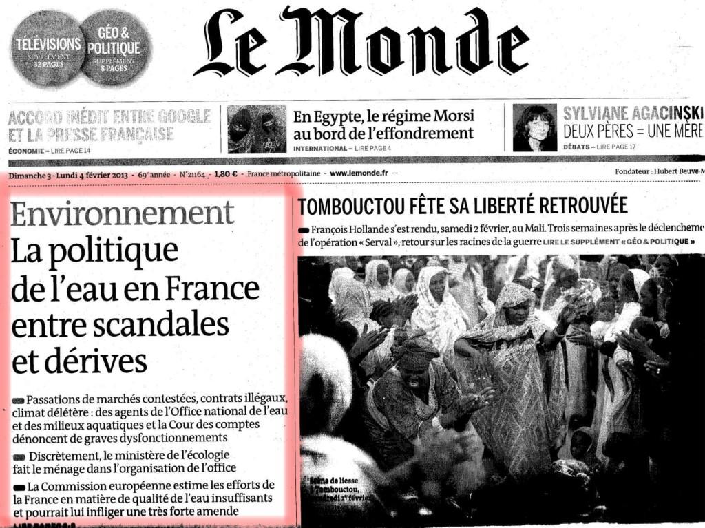 EAU Journal Le Monde