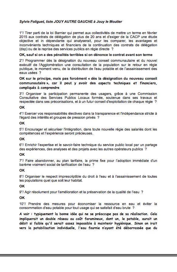 reponse Jouy Autre Gauche