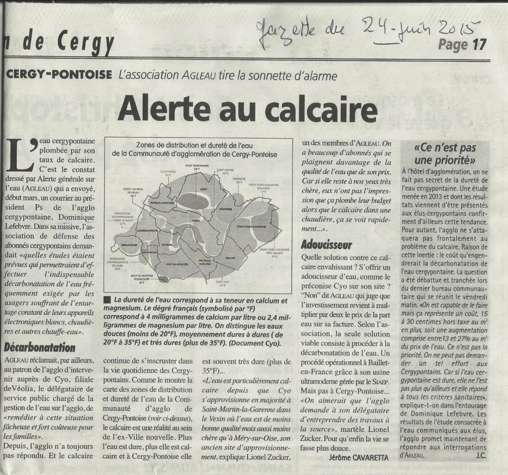 GazetteUneCalcaire